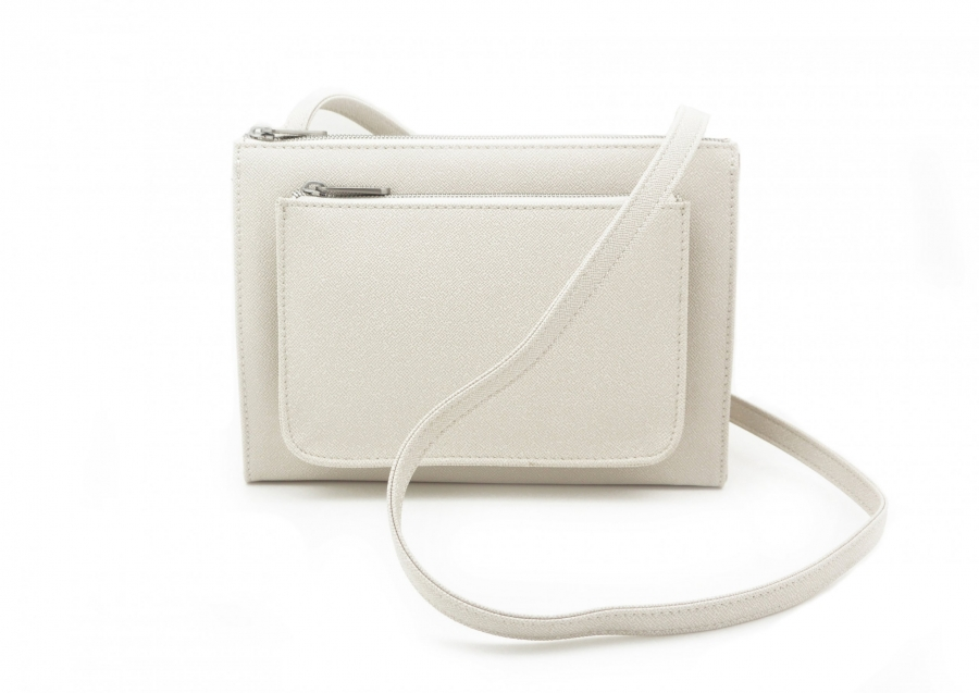 City Bag - Creme Stripe