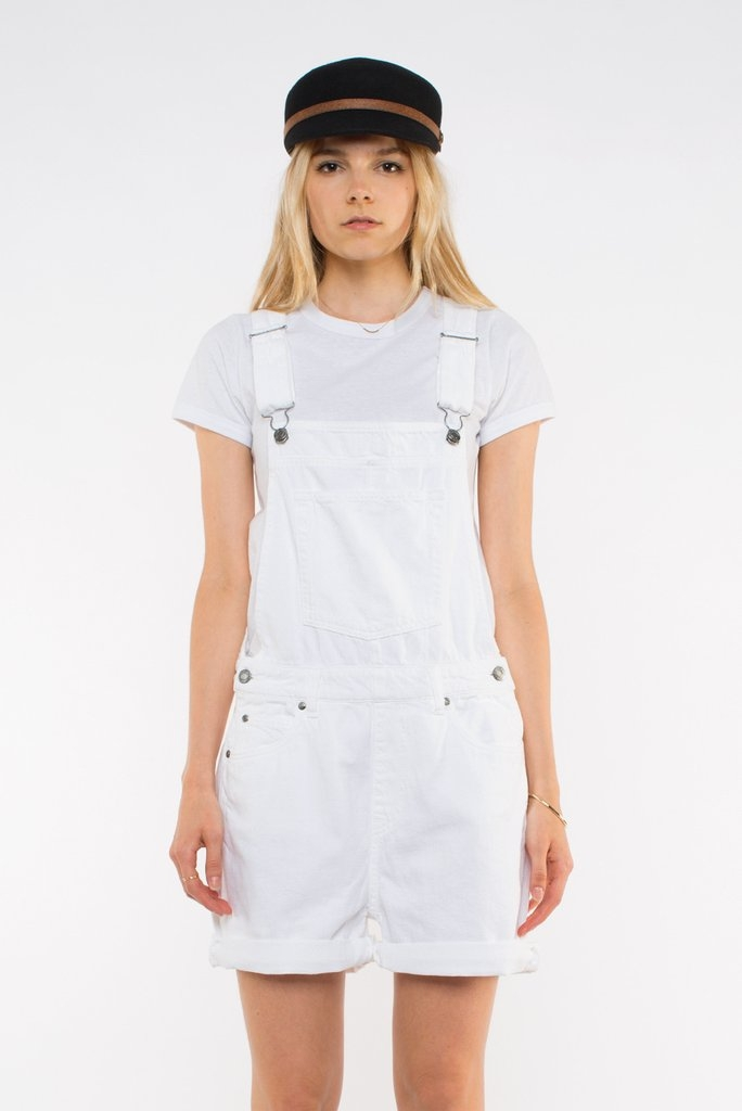 Tania Dungarees White Front