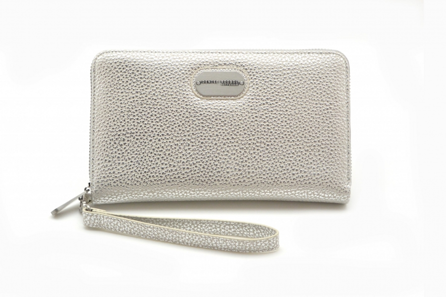 Wallet - White Metal