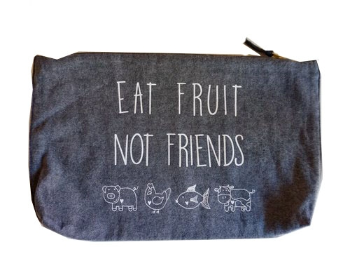 Eat Fruit Not Friends Clutch - Stonewash