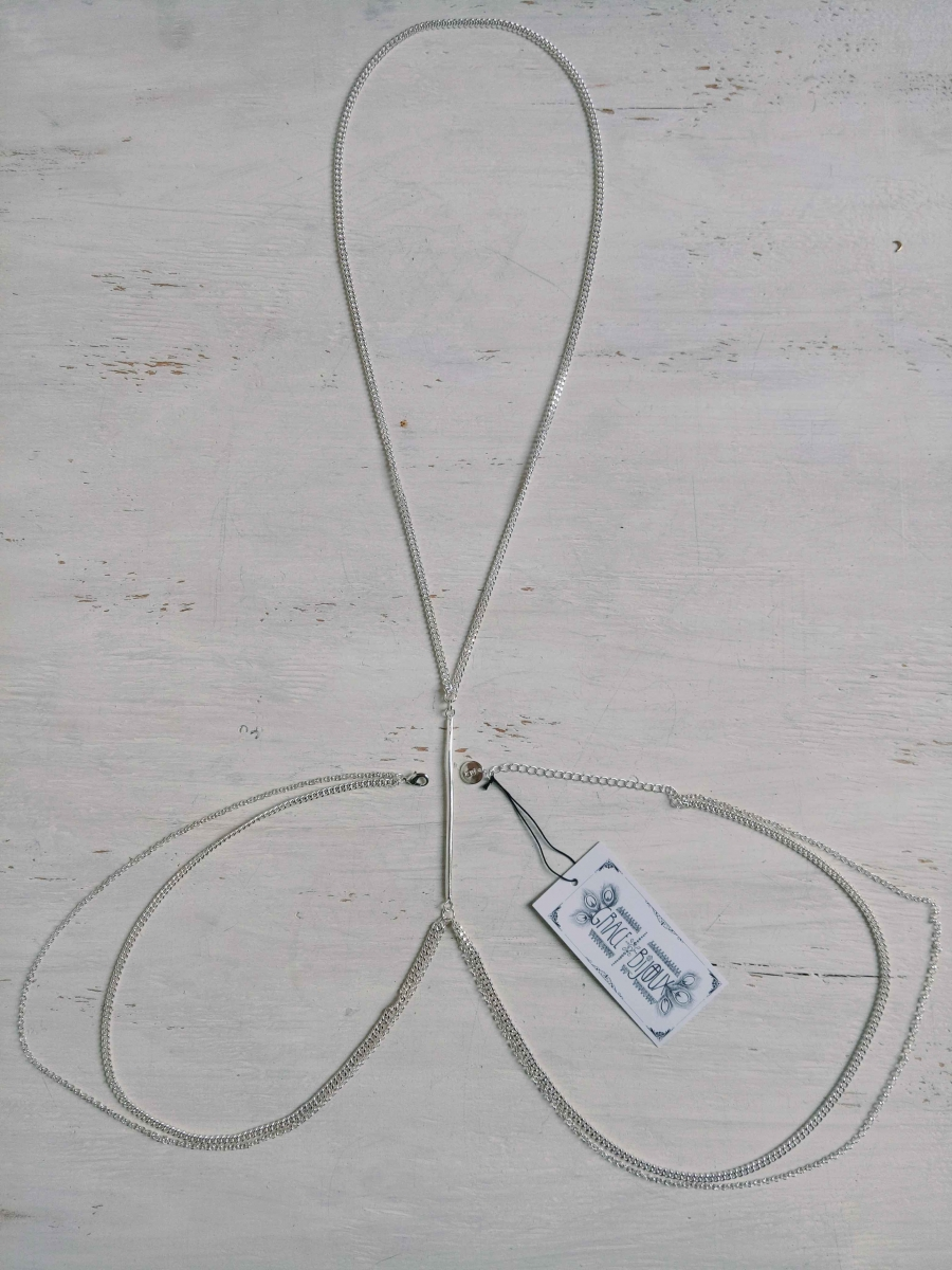 Jayla Body Chain Silver