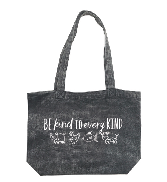 Be Kind To Every Kind Stonewash Denim Tote