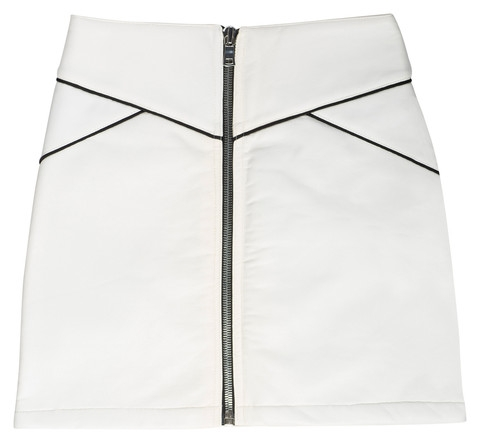White Vegan Leather Mini Skirt