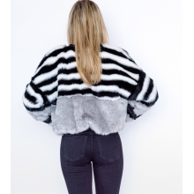 Cruelty Free Faux Fur Bomber Jacket Back