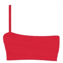 Metallic-Ribbed Rouge Cannes Crop Front