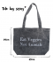 Eat Veggies Light Denim Tote Bag