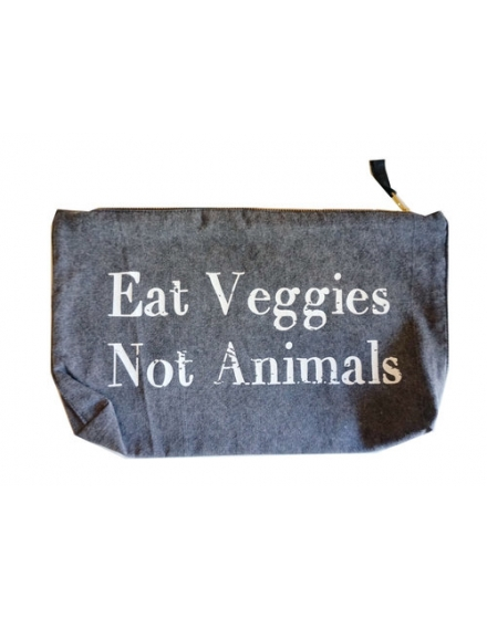Eat Veggies Not Animals Clutch Stonewash