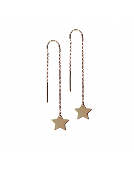 Shooting Star Earrings Gold