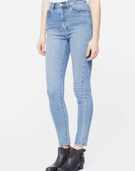 Zoe Jeans Light Stone Side