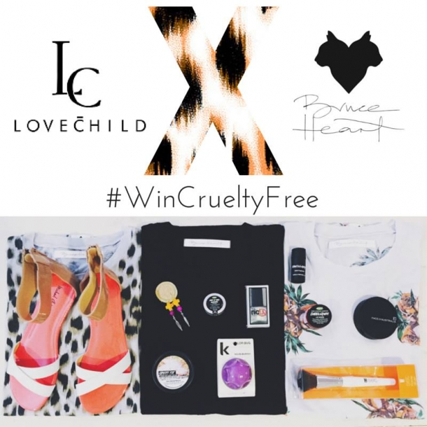 LOVECHILD & BRUCE HEART Cruelty Free Give Away