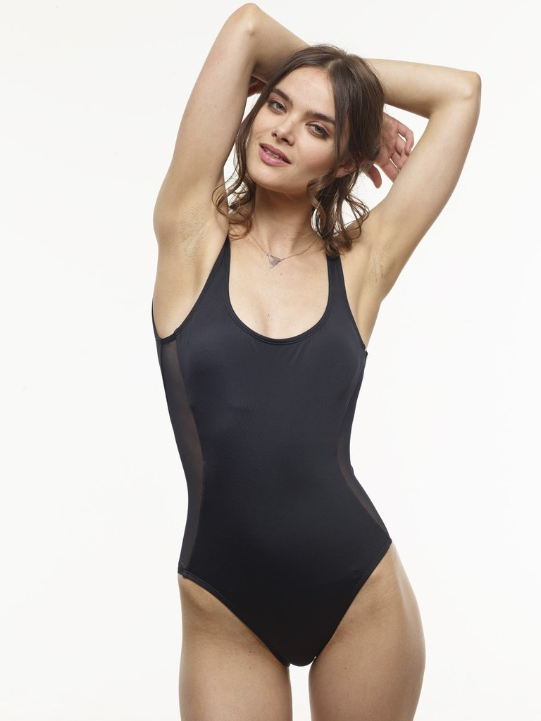 Classic Scoop One Piece - Black Front