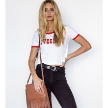 Lovechild The Label Retro Vintage Crop Tee Front