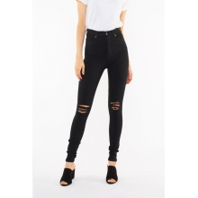 Moxy Jeans Black Ripped Knees Front