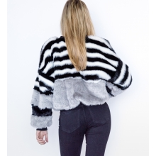Cruelty Free Faux Fur Bomber Jacket Back 2