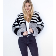 Cruelty Free Faux Fur Bomber Jacket Front 2