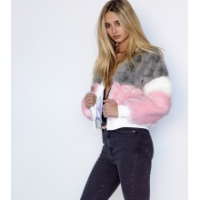 Cruelty Free Faux Fur Bomber Jacket Side 1