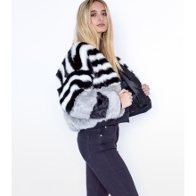 Cruelty Free Faux Fur Bomber Jacket Side 2