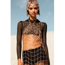 Abbey Body Chain Rose Gold