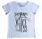 Vegan for the Voiceless Casual White Tee Flat