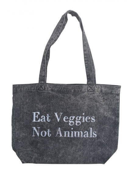 Eat Veggies Stonewash Tote Bag Front