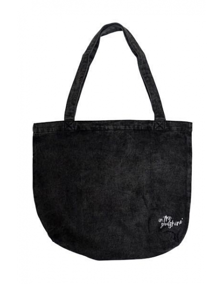 Vegan Vibes Denim Tote Bag Back