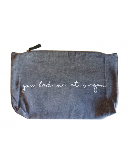 You Had Me At Vegan Clutch Stonewash