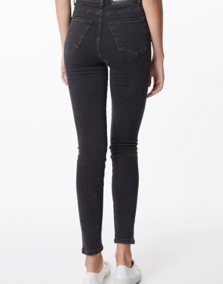 Zoe Jeans Old Black Back