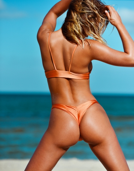 Metallic Burnt Orange Barbados Bottom Model